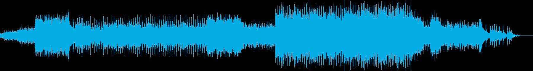 浮遊感と疾走感のある管弦曲の再生済みの波形