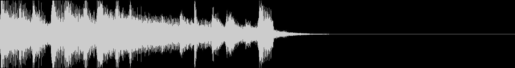 ゆったりあたたかいコミカル/サウンドロゴの未再生の波形
