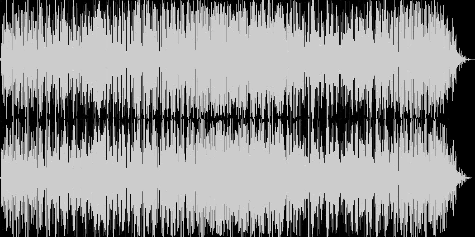 スローテンポなギターポップスの未再生の波形