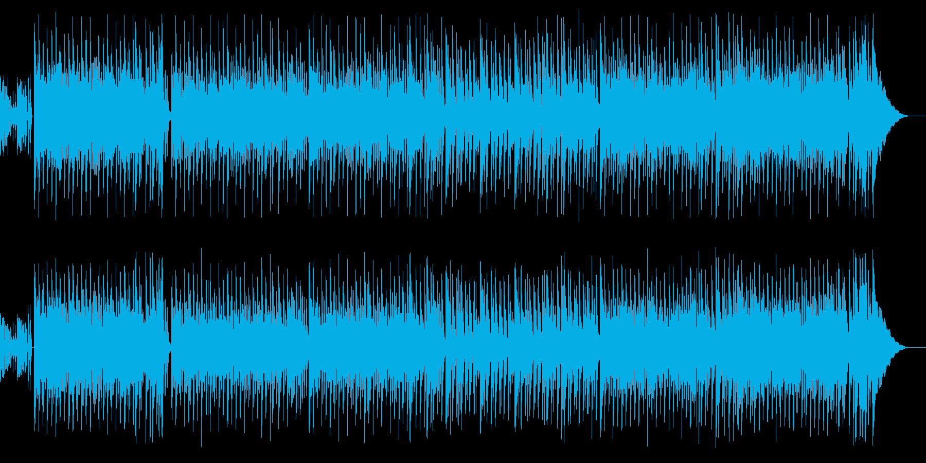 日常シーンぽい夏っぽいポップなBGMの再生済みの波形