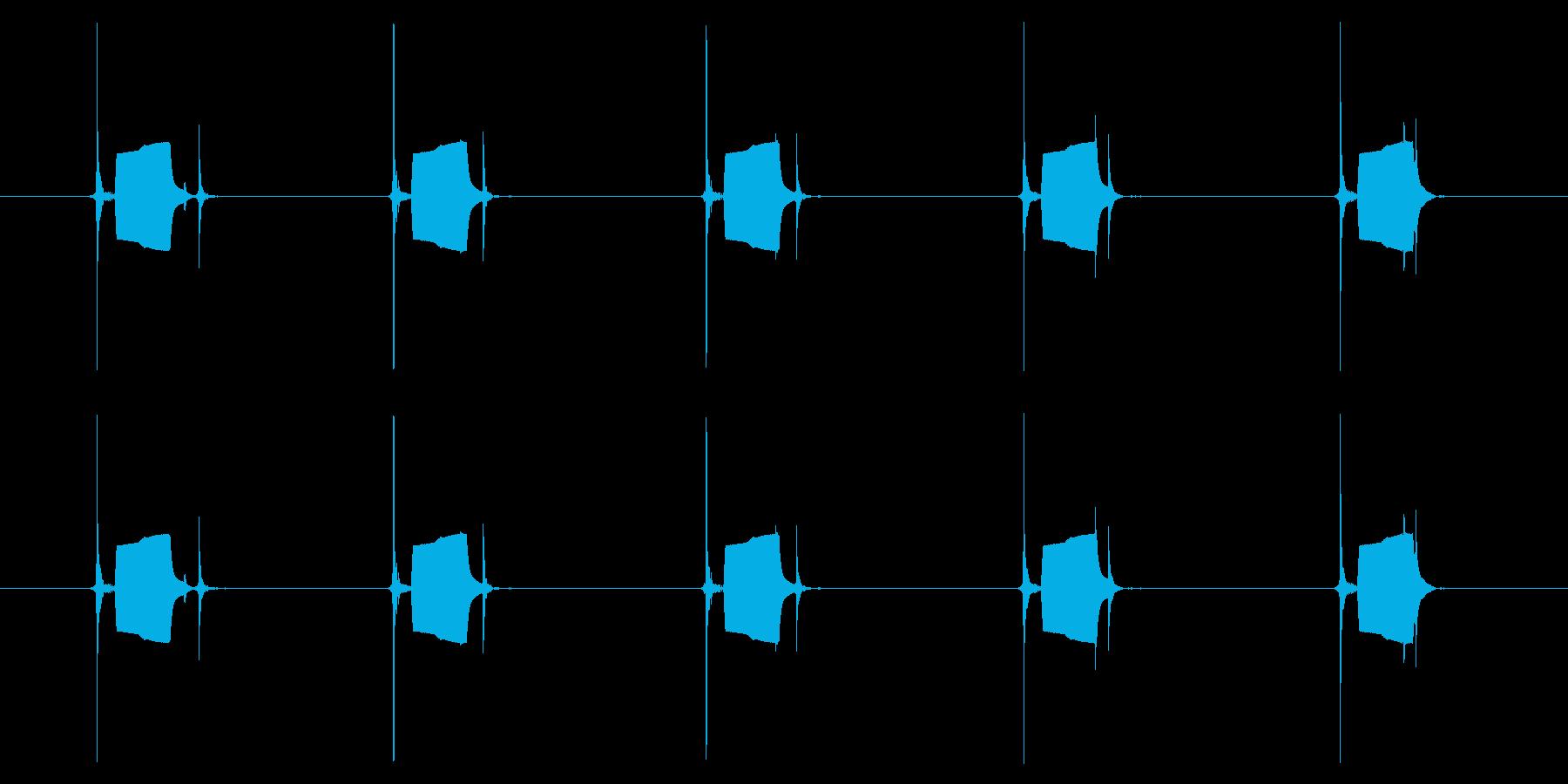 携帯電話 ハードウェア02-03(ボタンの再生済みの波形