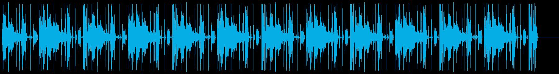 考え中、楽しげ、可愛いエレピと電子ドラムの再生済みの波形