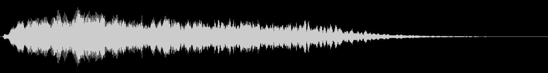 ソフトシンセパッドとチャイムスイープの未再生の波形