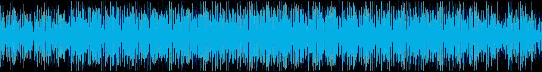 疾走感のあある躍動的なファンキーBGMの再生済みの波形