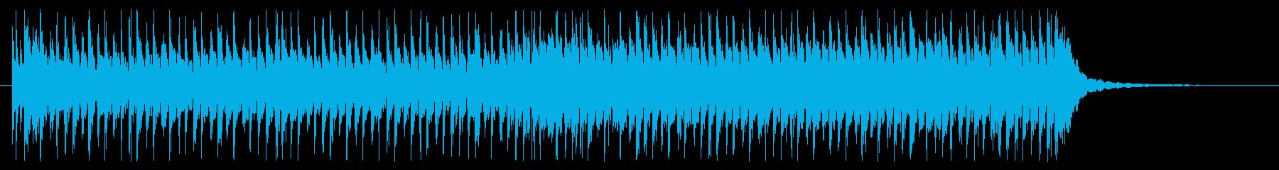 ハイテンポでコミカルなブラスジングルの再生済みの波形