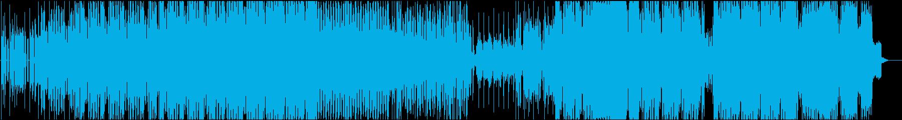 4つ打ちビートで思わず体が揺れるEDMの再生済みの波形