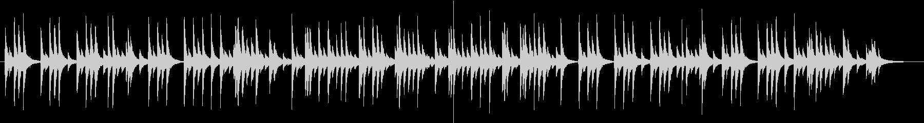 ゆったりとした和風、琴のBGMの未再生の波形