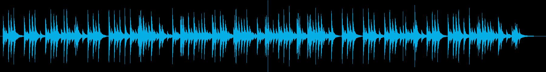ゆったりとした和風、琴のBGMの再生済みの波形