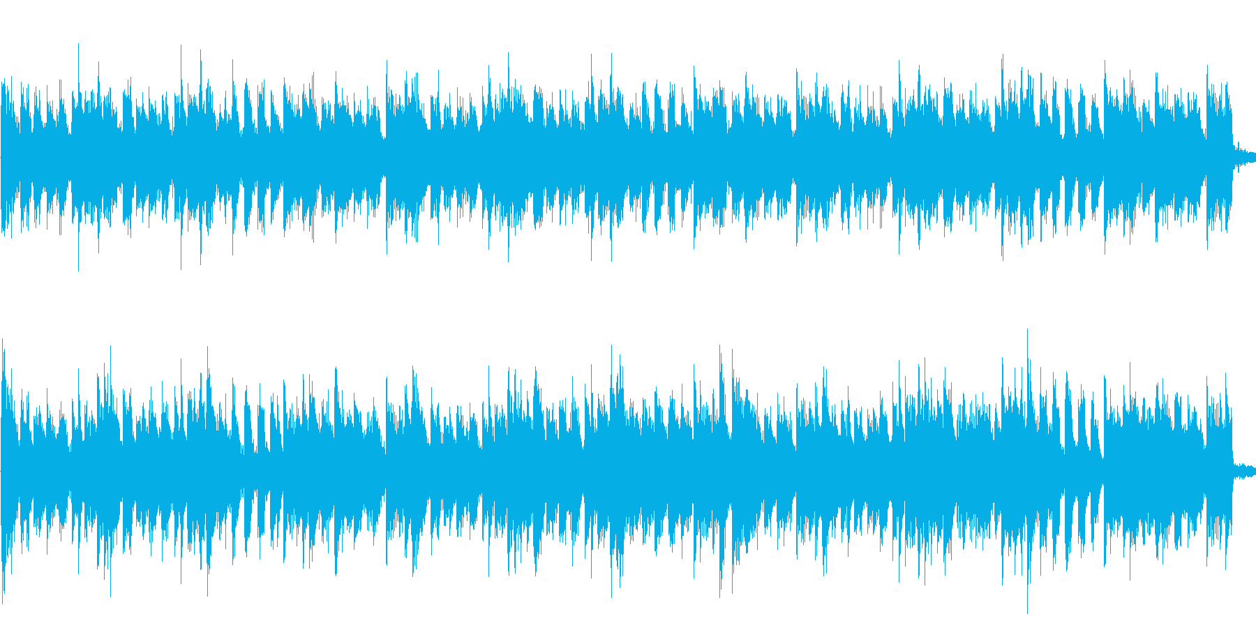 ピアノで落ち着いた感じの曲ですの再生済みの波形
