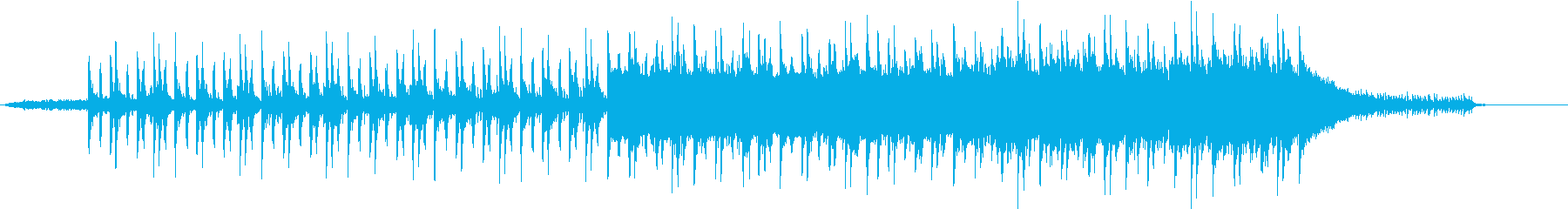 機械的な音のロックの再生済みの波形