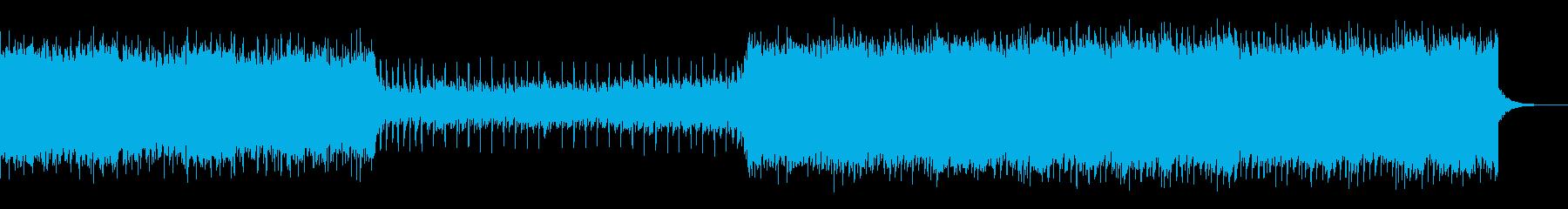 80's風のエレクトロBGMの再生済みの波形