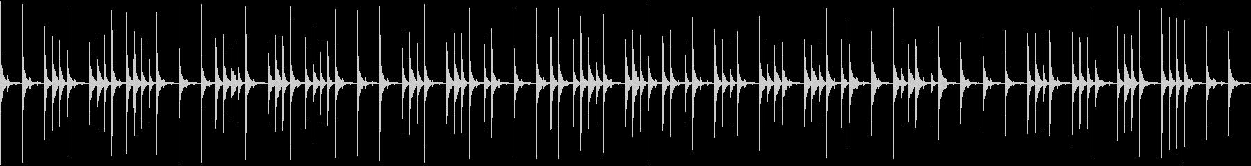 グロッケンの音色のゆっくりした曲ですの未再生の波形