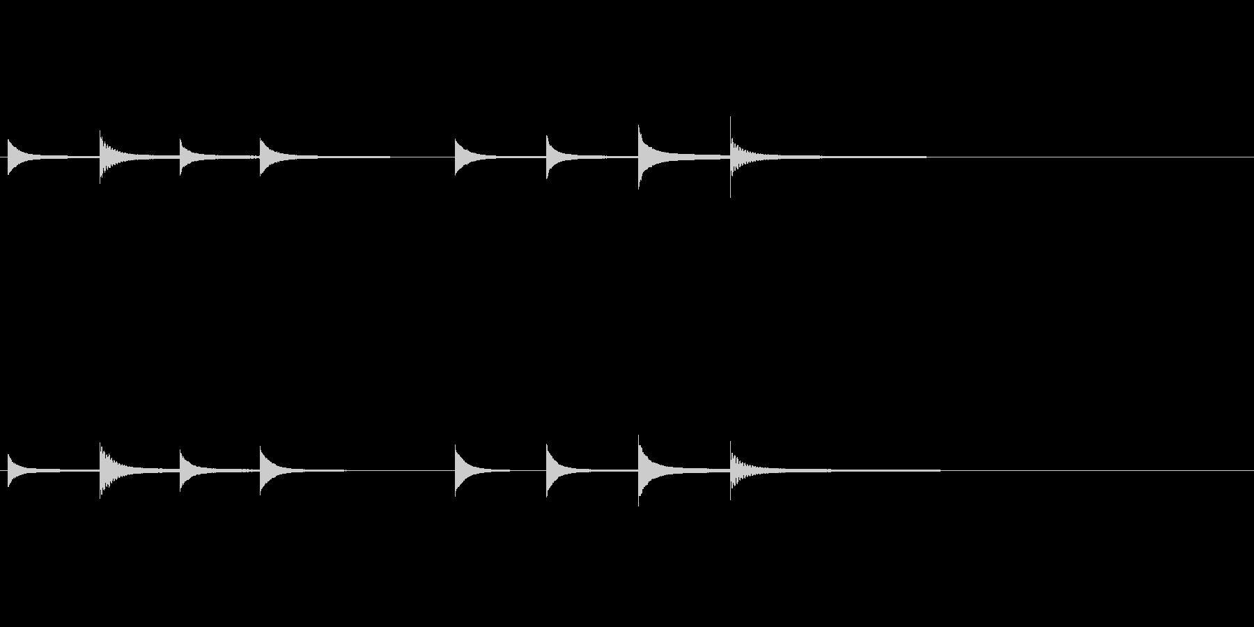「キンコンカンコンコンキンコンカン」高めの未再生の波形