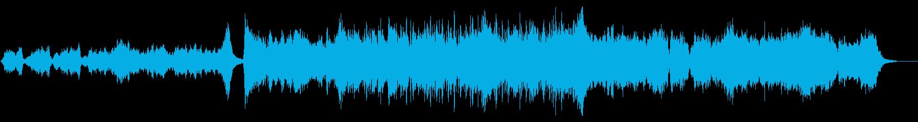 トレイラー向けメロディアスで壮大な曲の再生済みの波形