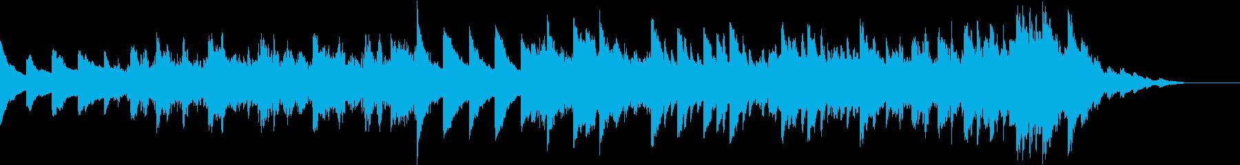 神秘的なシンセサイザーの幻想的なBGMの再生済みの波形