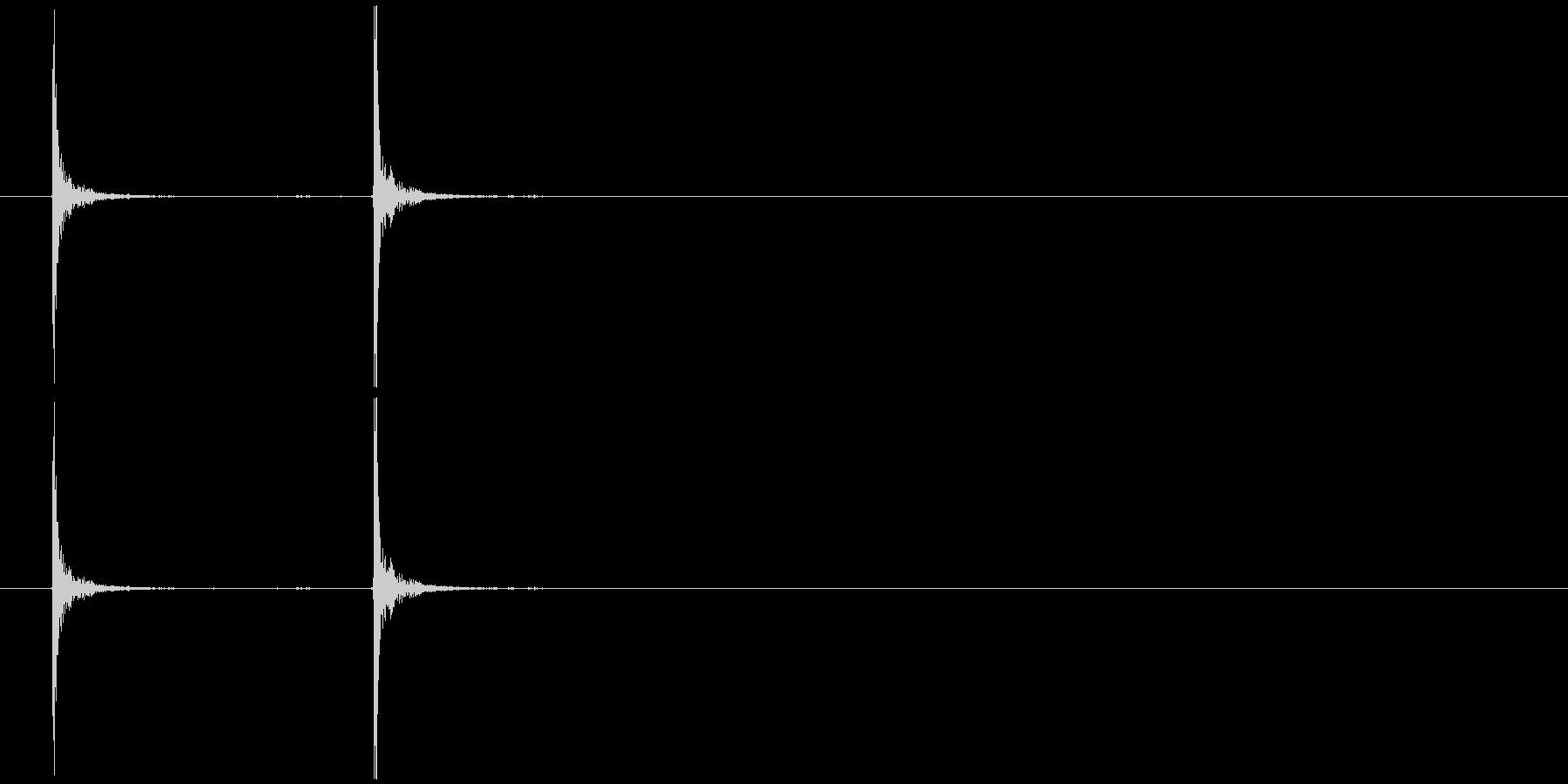 大きなフラッシュライト、スイッチオンの未再生の波形