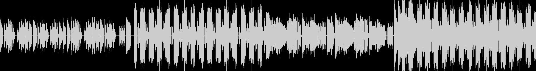 緊迫感のあるデジロック風エレクトロの未再生の波形