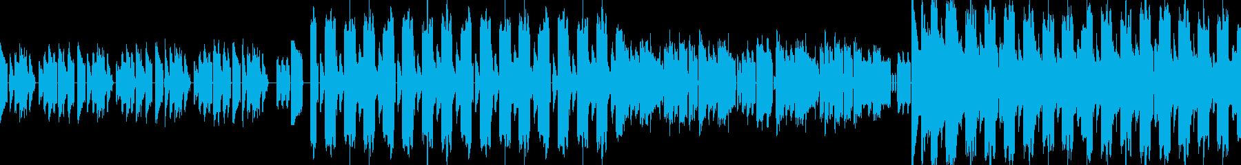 緊迫感のあるデジロック風エレクトロの再生済みの波形