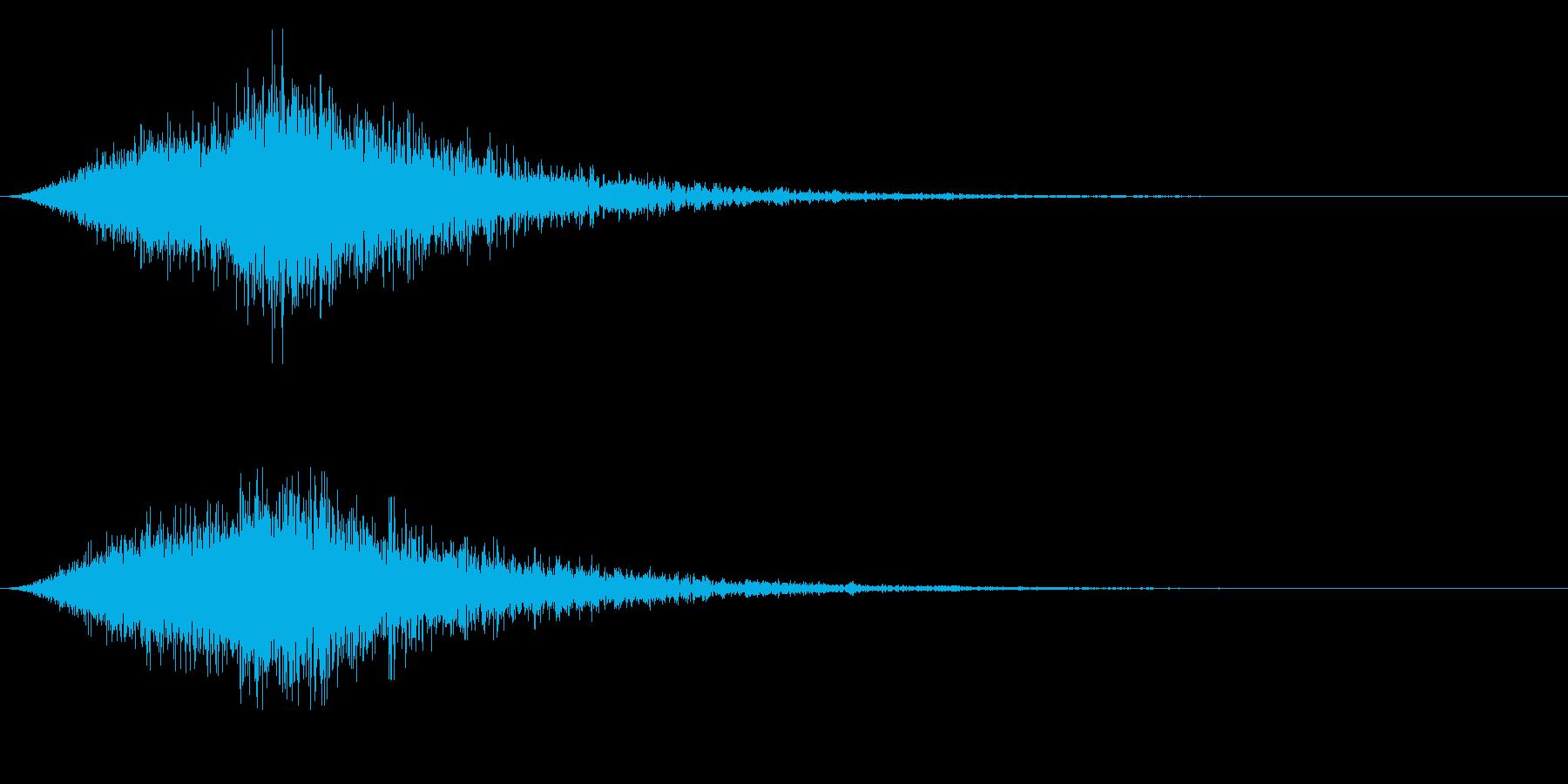 ゴーストが側を通り抜けるような音の再生済みの波形