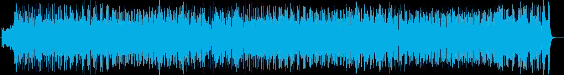 アップテンポでリズミカルなシンセポップスの再生済みの波形
