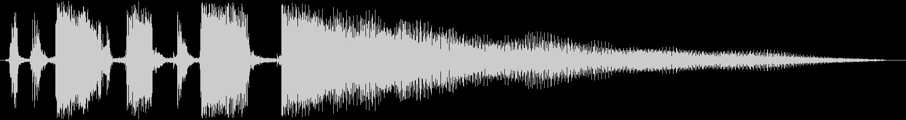 ジングル カッティングギターBの未再生の波形