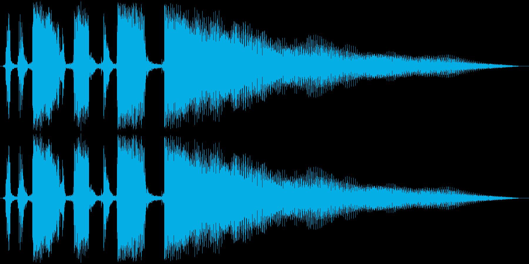 ジングル カッティングギターBの再生済みの波形