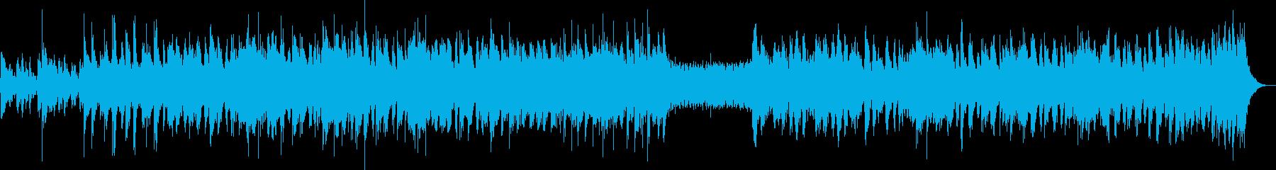 明るく騒々しいオーケストラの再生済みの波形