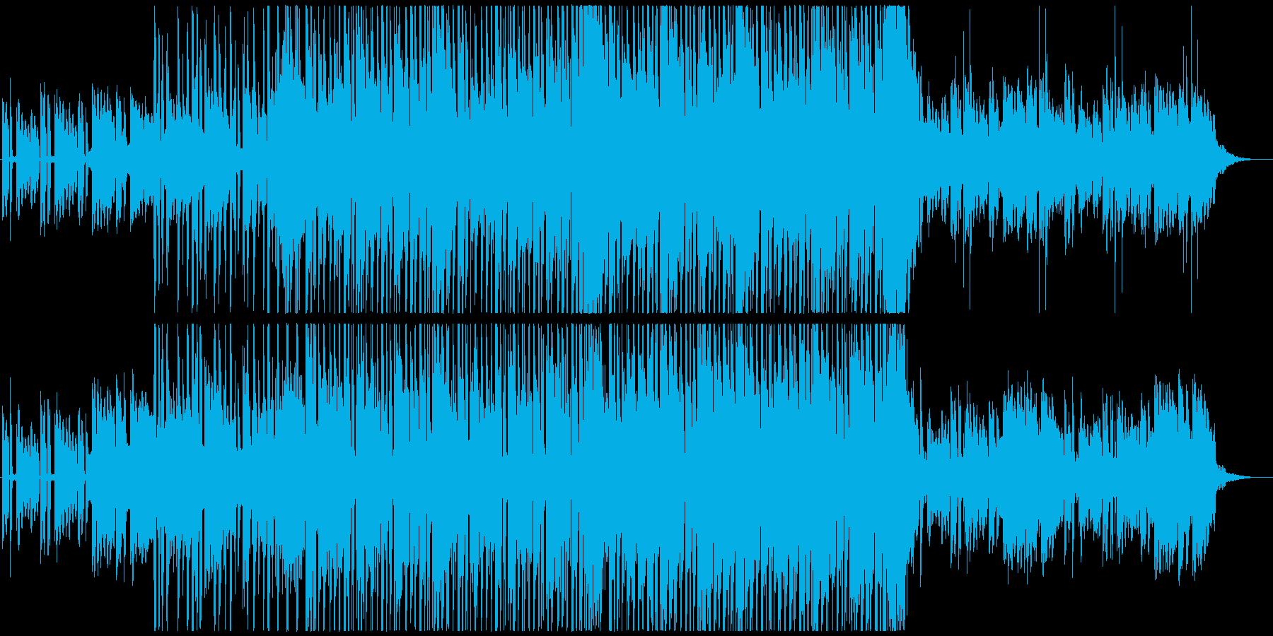 おしゃれなアンビエントチルアウトBGMの再生済みの波形