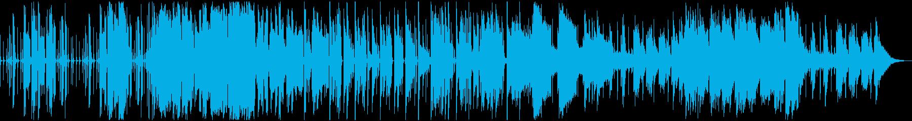 ラテン系ジャズ、海辺アクアリウム向きの再生済みの波形