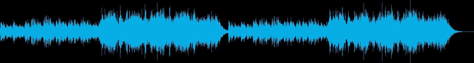 神秘的、幻想的で静かなアンビエントBGMの再生済みの波形