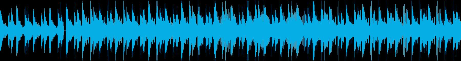 チルアウト 優しいローファイヒップホップの再生済みの波形