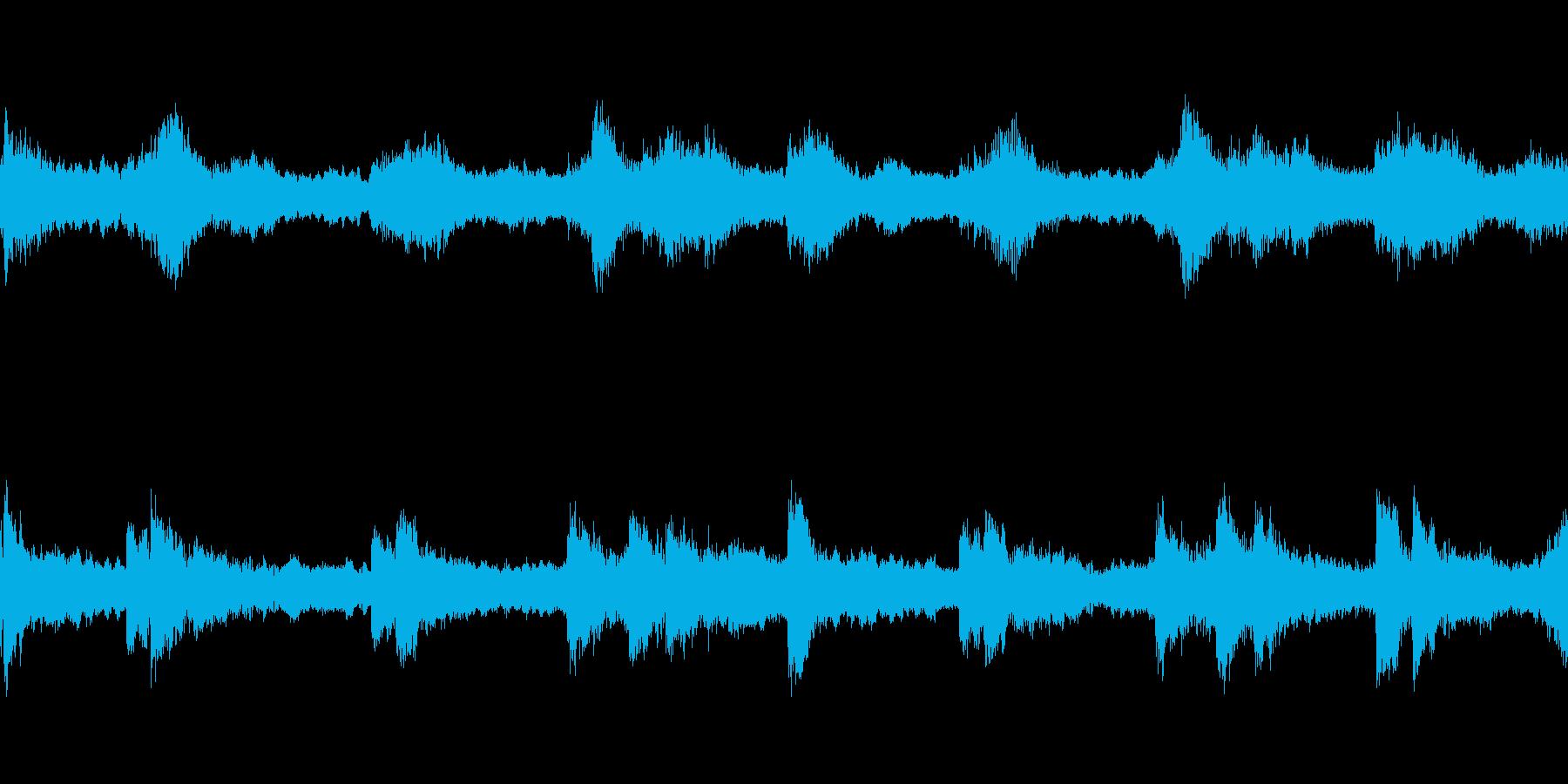 壮大な雰囲気の楽曲(Loop-01)の再生済みの波形