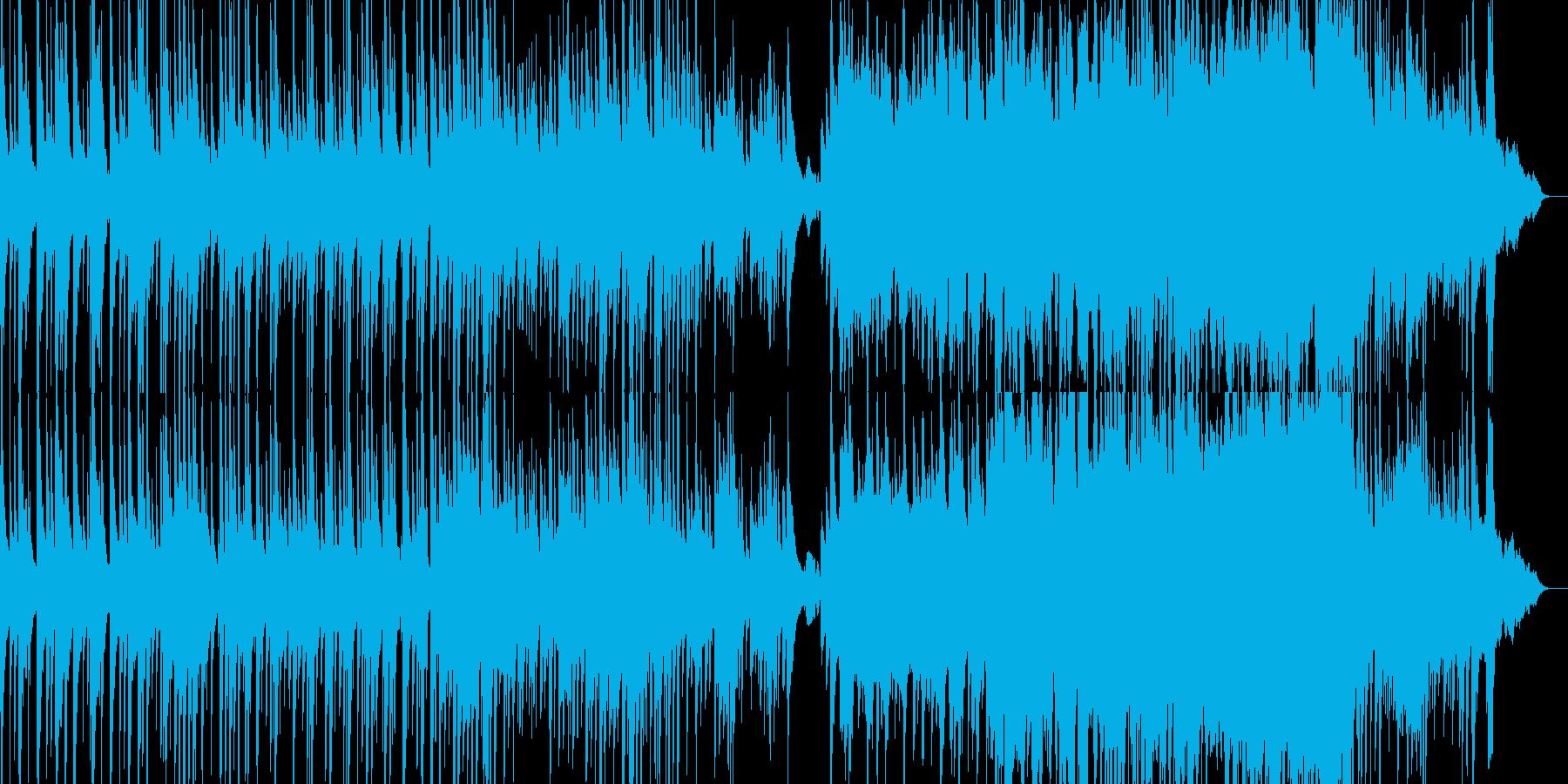 どことなく和風の切ない曲の再生済みの波形