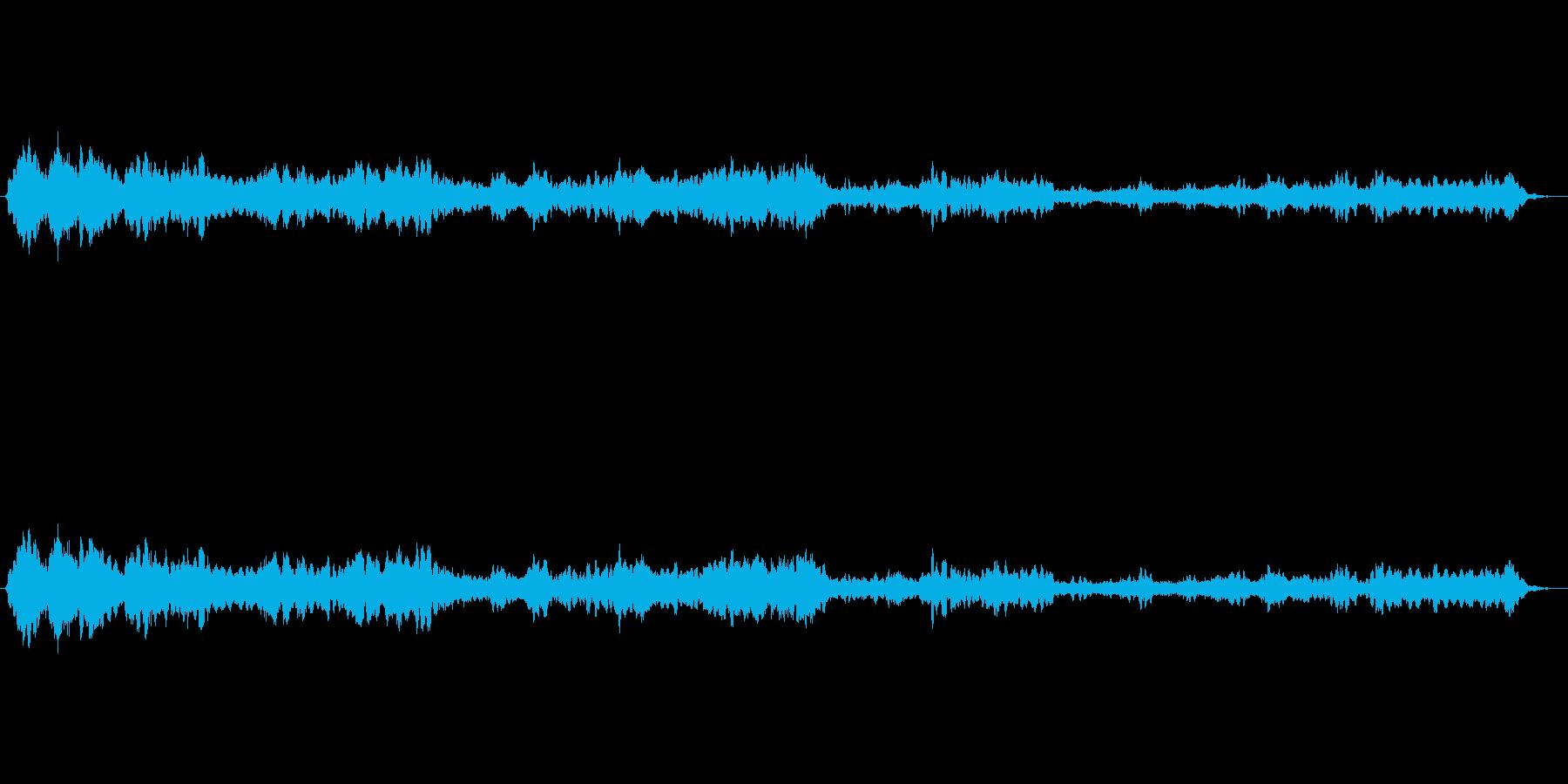 癒し感と不思議な感じのアンビエント曲ですの再生済みの波形
