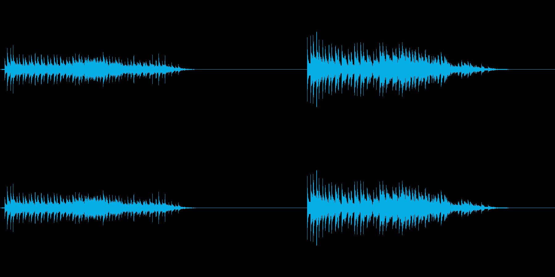 フレキシトーン:振動ラトル、下降の再生済みの波形