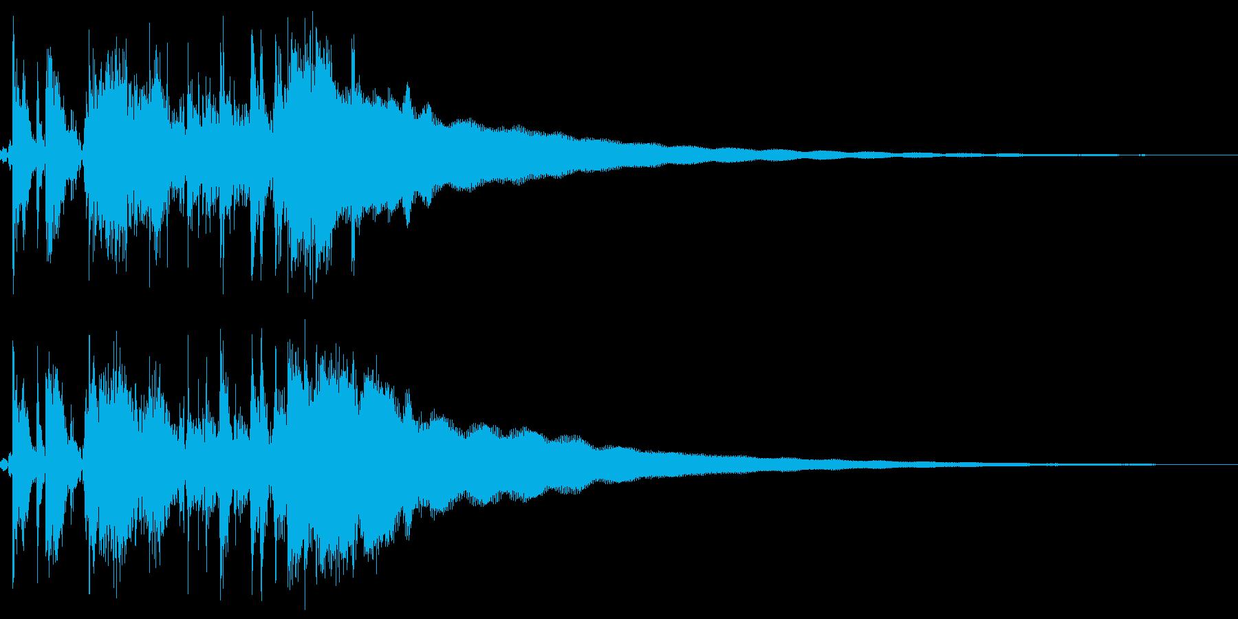 古いレジスターの清算音(ハンドルを回す)の再生済みの波形