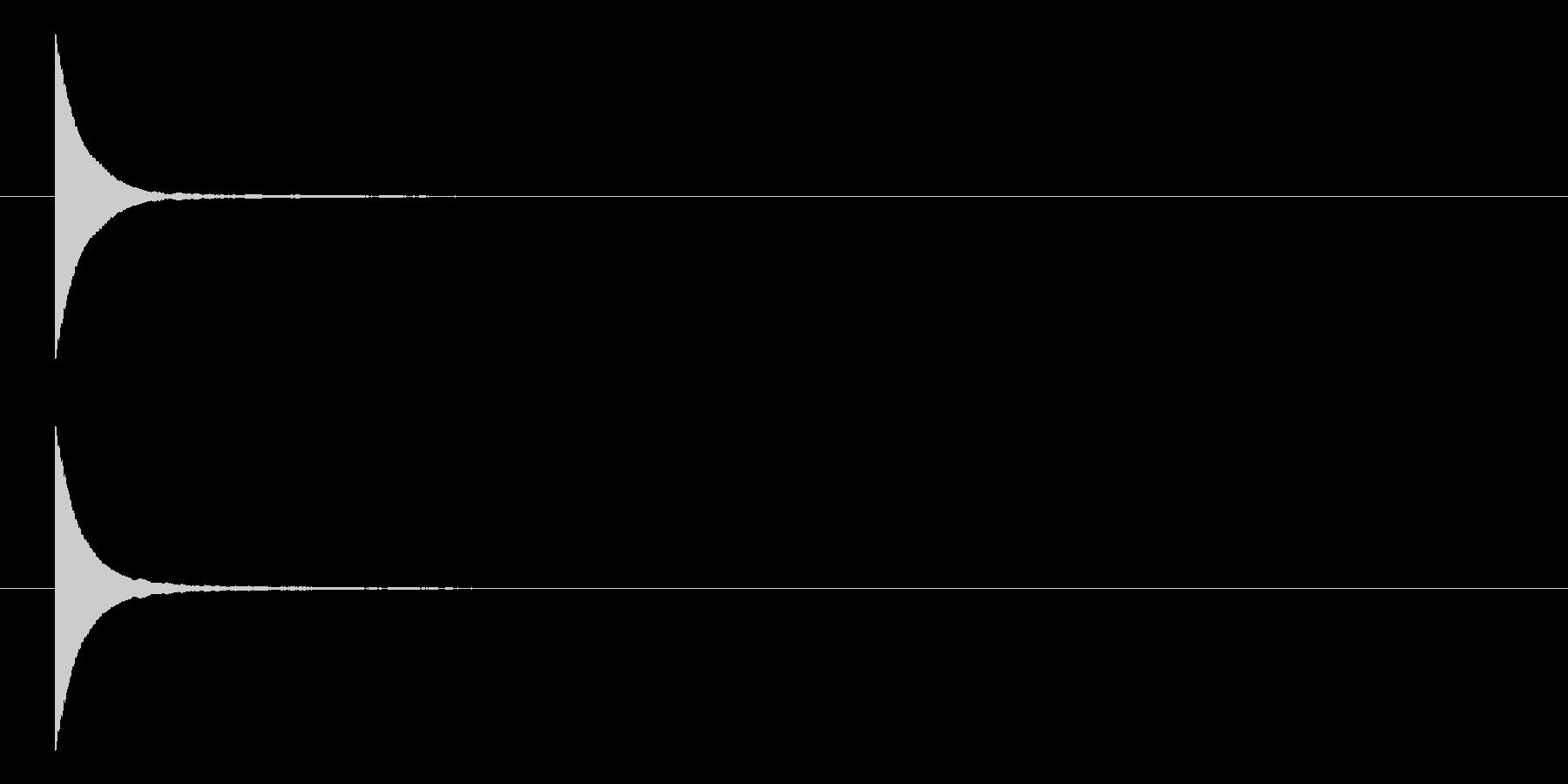 ポン パン パッ シンプルなテロップ音の未再生の波形