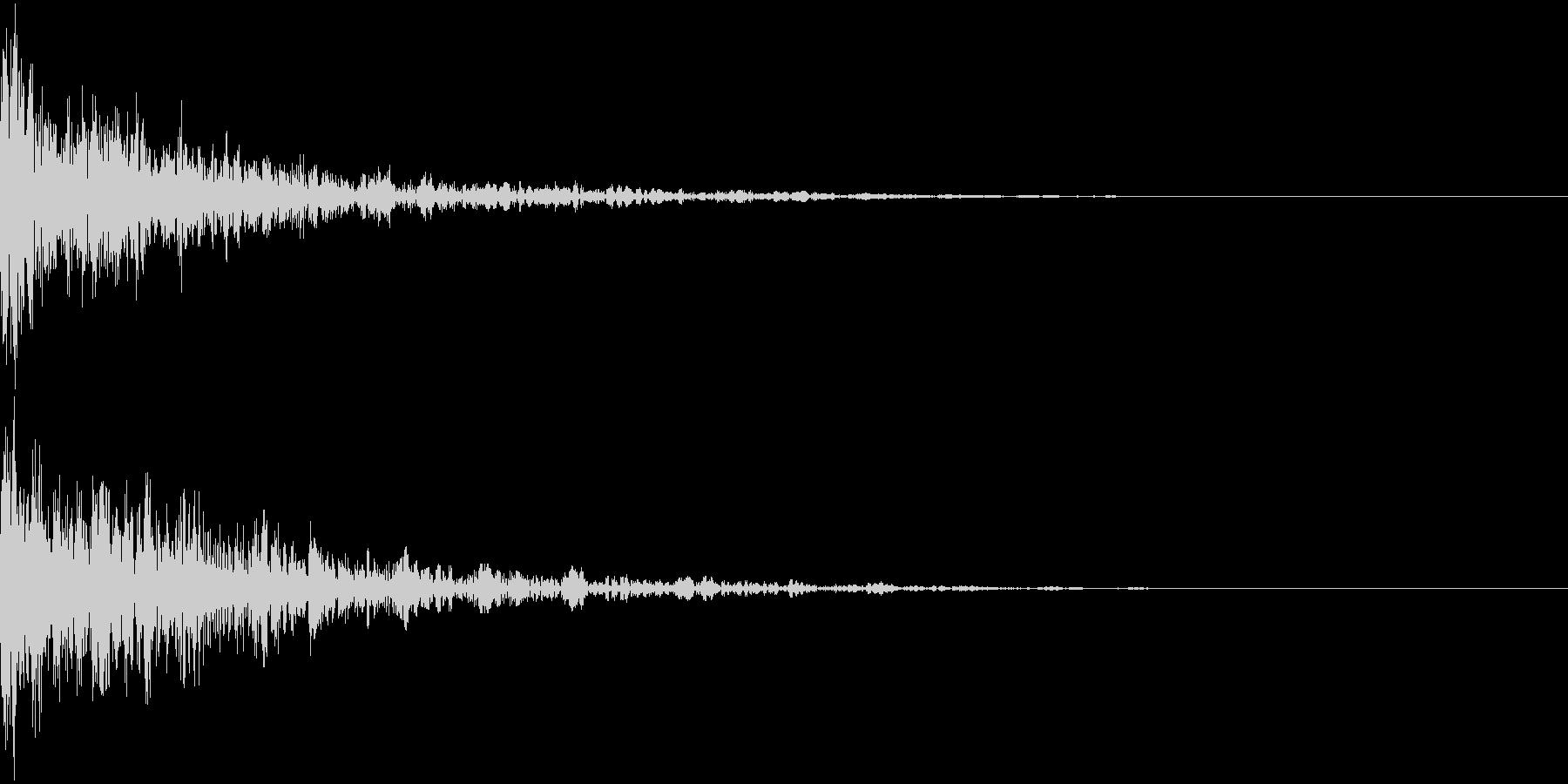 ドーン-29-2(インパクト音)の未再生の波形