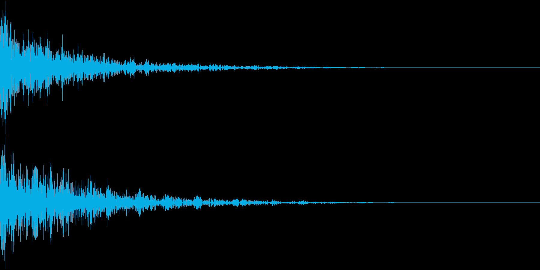 ドーン-29-2(インパクト音)の再生済みの波形