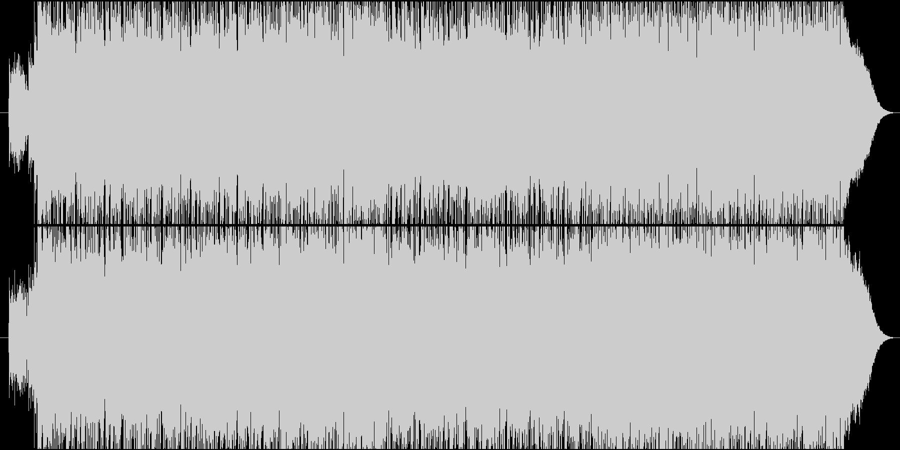 エネルギッシュな重めロックの未再生の波形