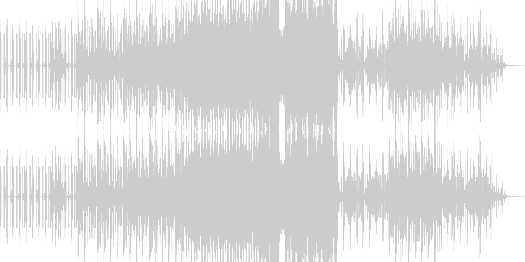 ピアノメインのダークなダブステップの未再生の波形