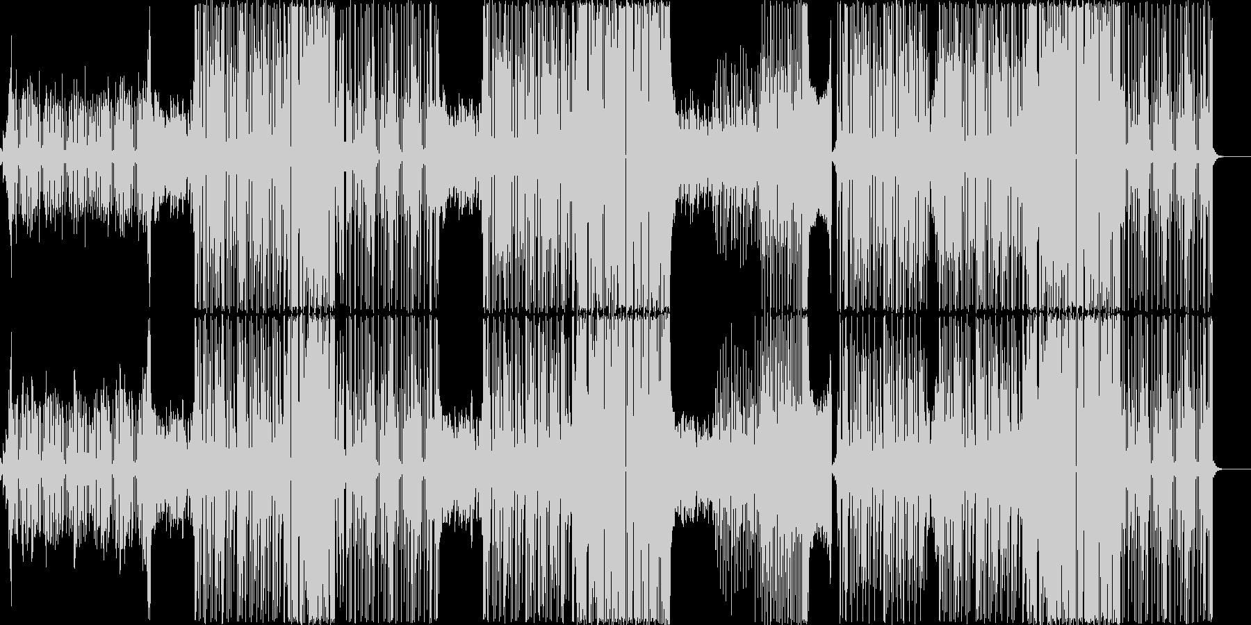 跳ねるような可愛い系エレクトロポップの未再生の波形