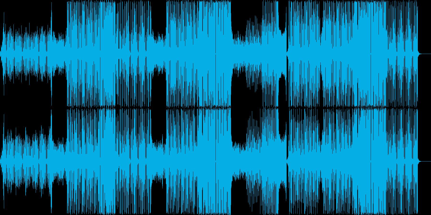 跳ねるような可愛い系エレクトロポップの再生済みの波形