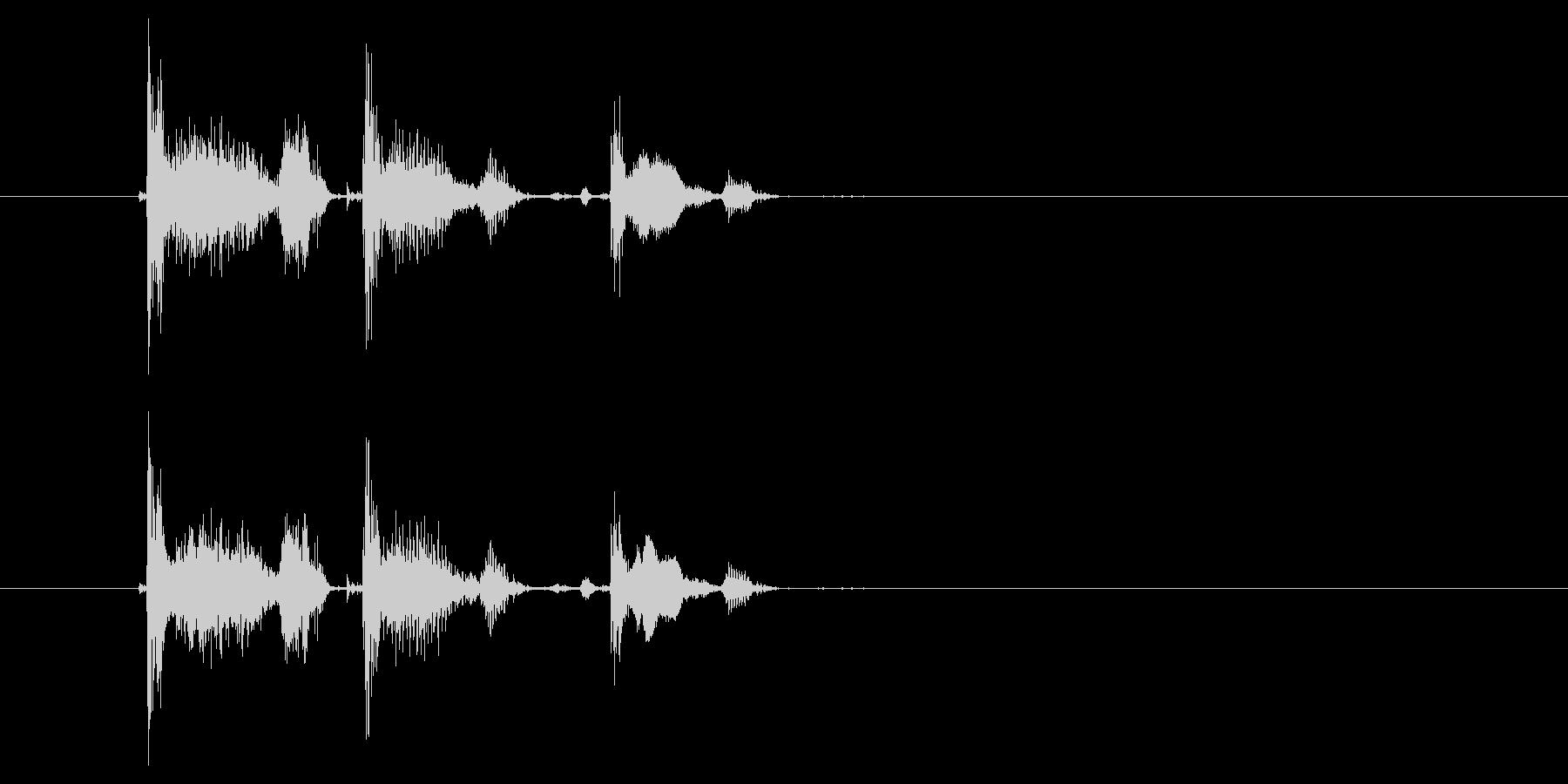 コホコホコホの未再生の波形