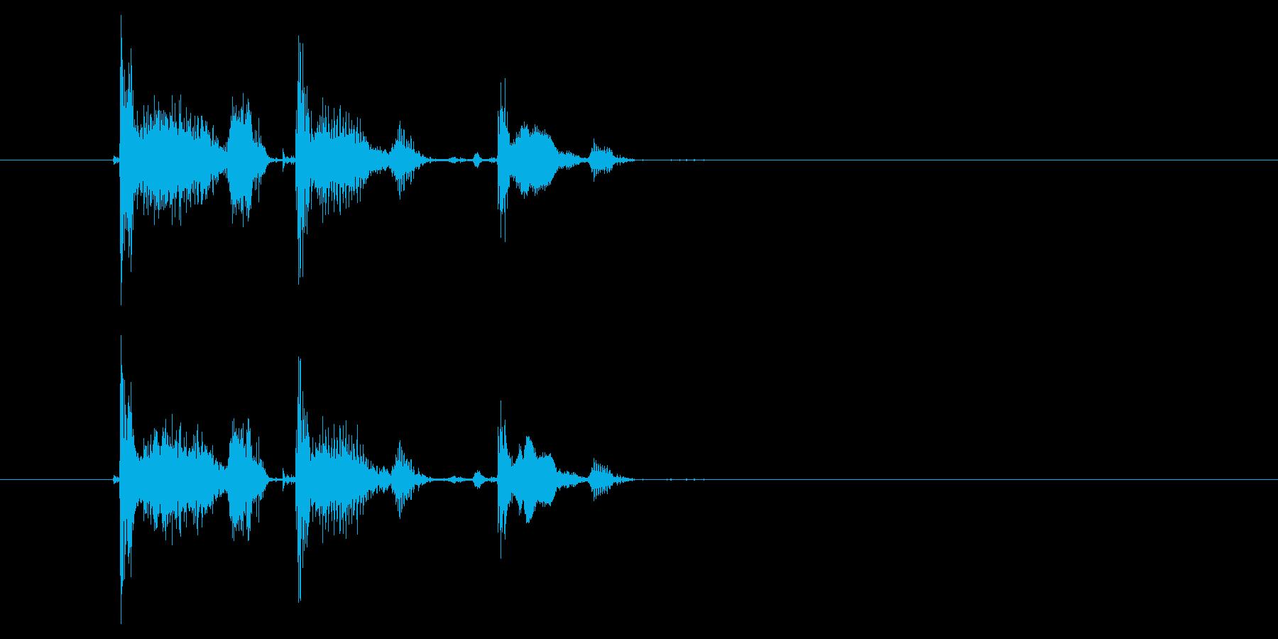 コホコホコホの再生済みの波形