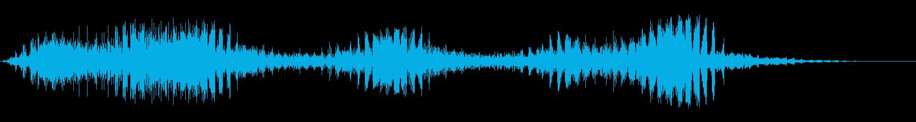 構造欠陥の再生済みの波形