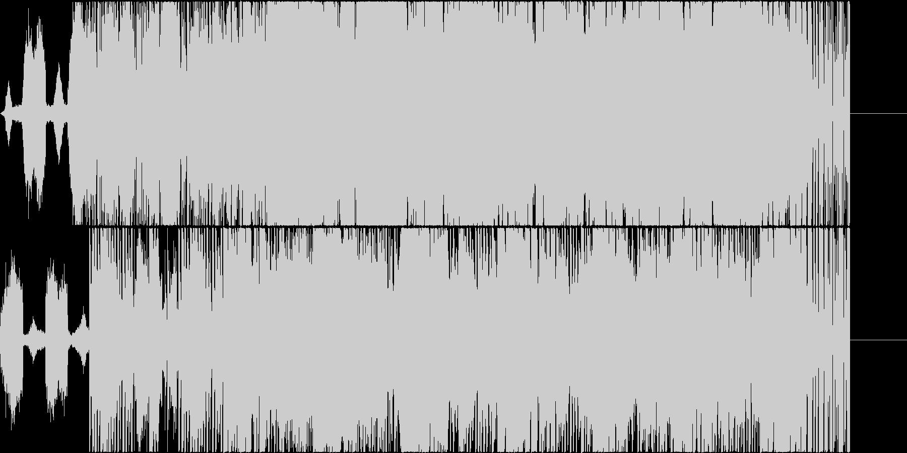 着信音から始まるホラー系BGMの未再生の波形