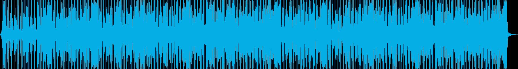 アップビートファンクディスコミュージックの再生済みの波形