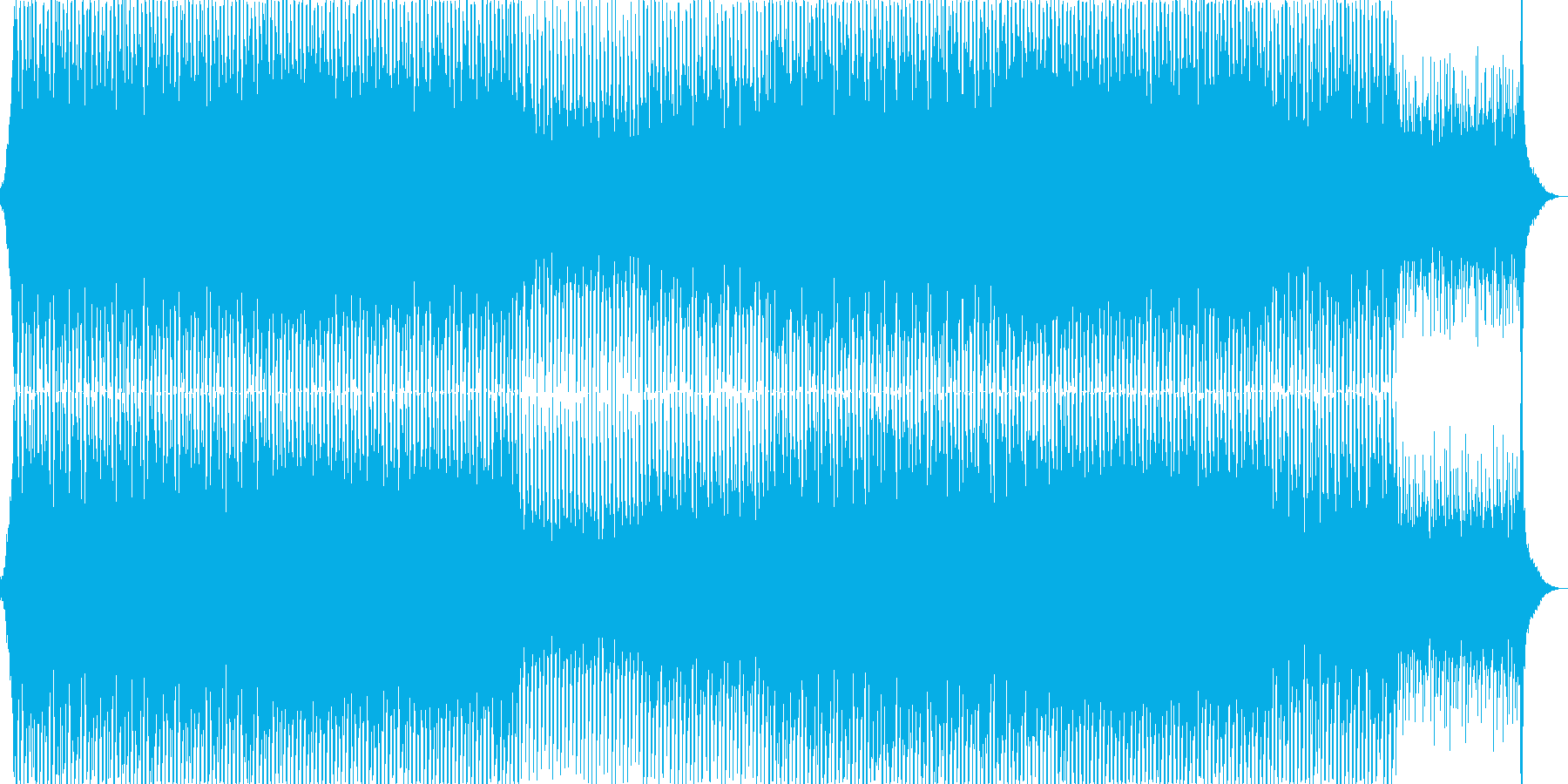 EDMポップで明るく軽快なクラブ系-02の再生済みの波形