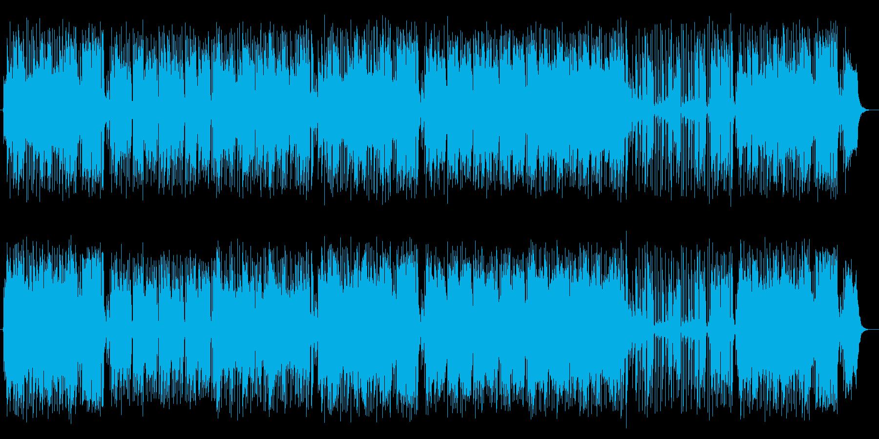 キーボードで作る華やかなポップスの再生済みの波形